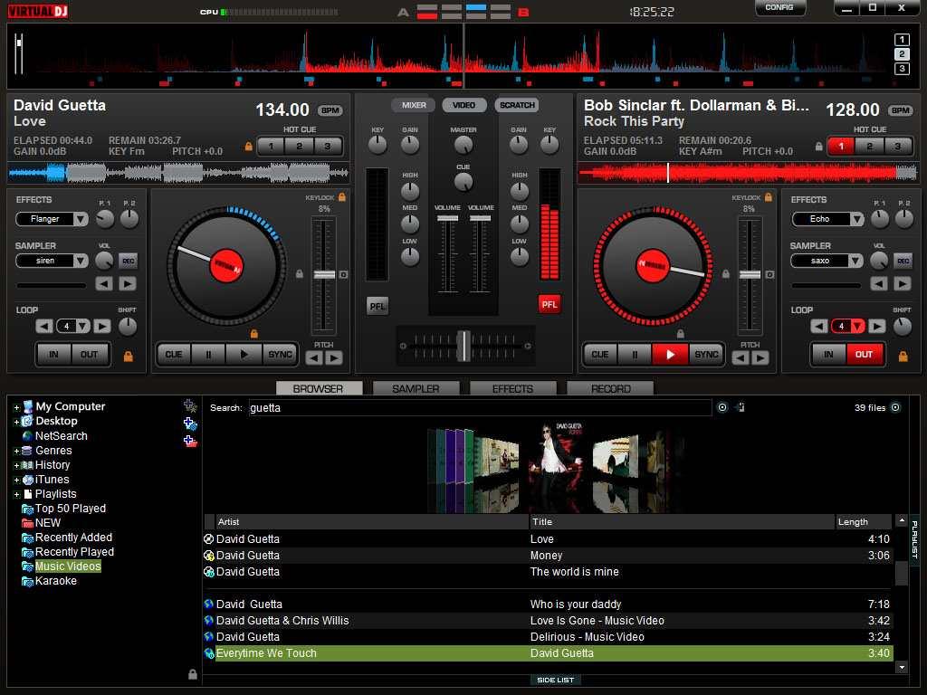 Virtual DJ UI