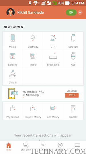 Demonetized with no cash? Freecharge Kiya Matlab Cash Diya!