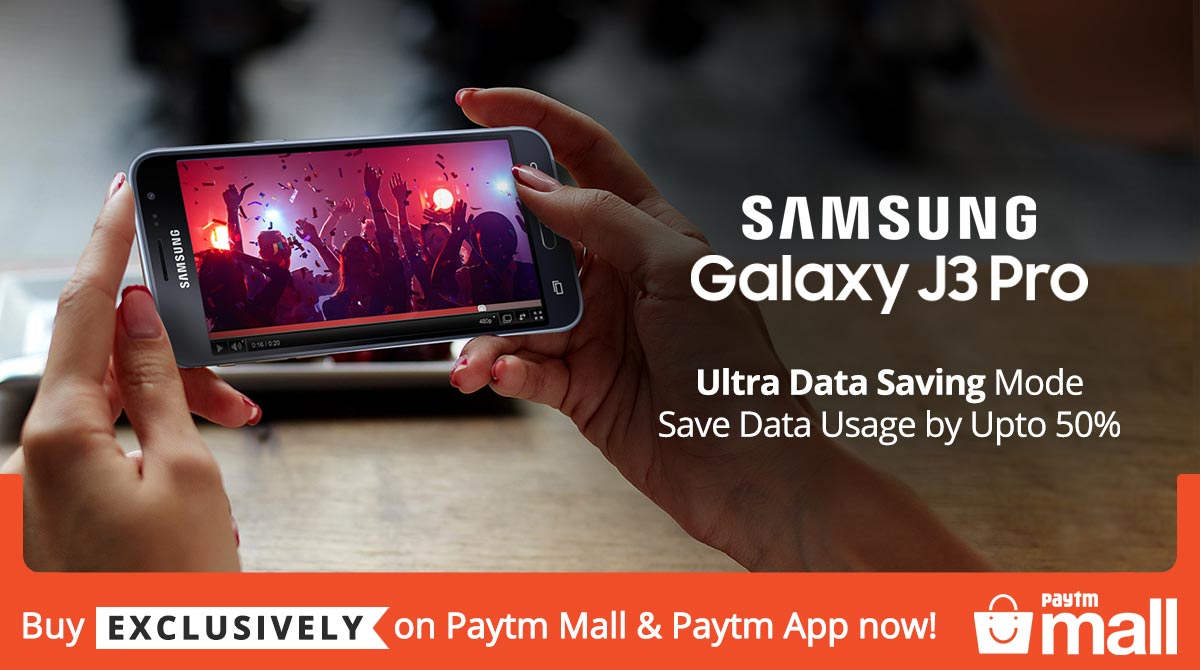 Samsung Galaxy J3 Pro exclusively available on Paytm Mall & App