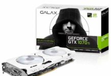 GALAX GeForce GTX 1070Ti Series launched