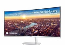 Samsung CJ791 QLED curved Monitor has Thunderbolt 3