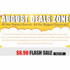 Avail heavy discounts in the August Deals Zone
