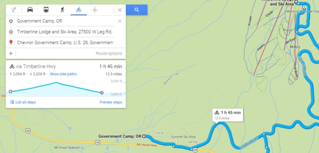 Google Maps now adds Elevation Profile - Helpful for Cyclists -