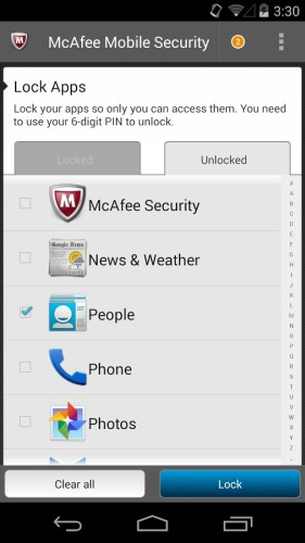 McAfee Mobile Security Android App Review -