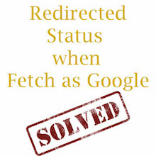 Redirected Status when Fetch as Google