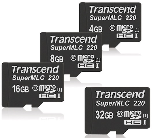 Transcend SuperMLC microSD Memory Cards launched