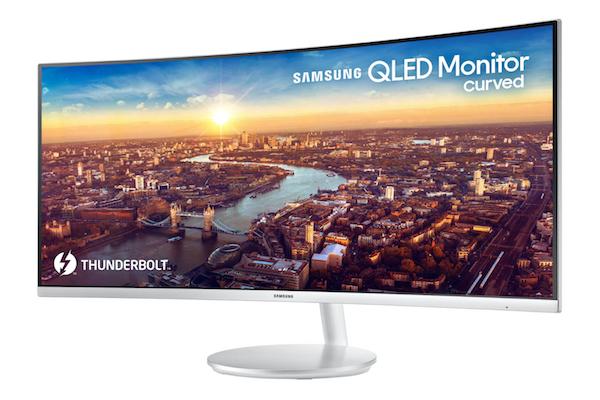 Samsung CJ791 QLED curved Monitor has Thunderbolt 3