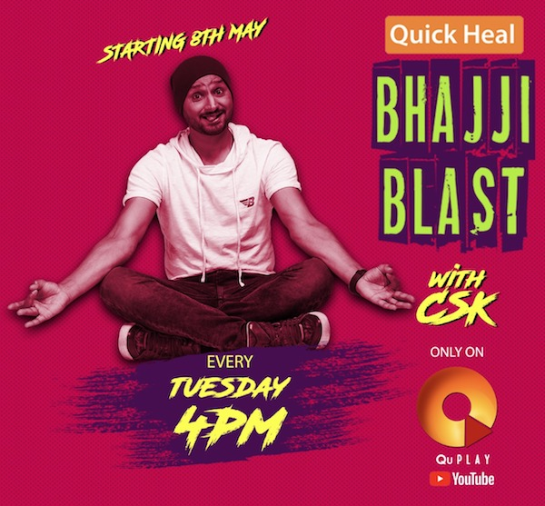 Quick Heal Bhajji Blast with CSK - Harbhajan Singh Announces the launch!