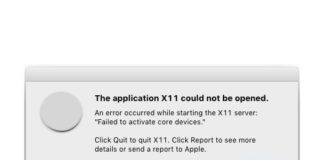 How to fix The application x11 could not be opened error in Mac - Failed to activate core devices