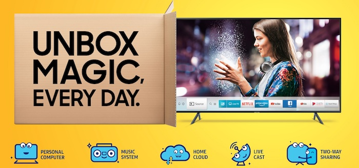 Samsung Unbox Magic Series - Smart TVs launched