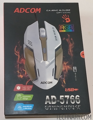 Adcom Maverick Review - Optical Wired Gaming Mouse