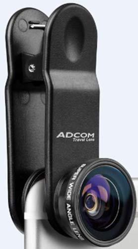 Adcom Full Screen Super Wide Angle Clip On Mobile Phone Camera Lens