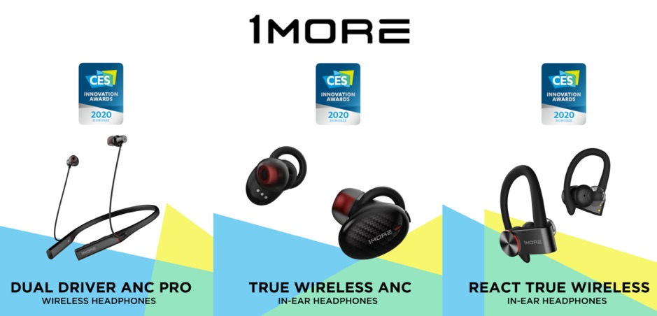 1MORE receives Top CES Innovation Honoree Award 3 years in a row