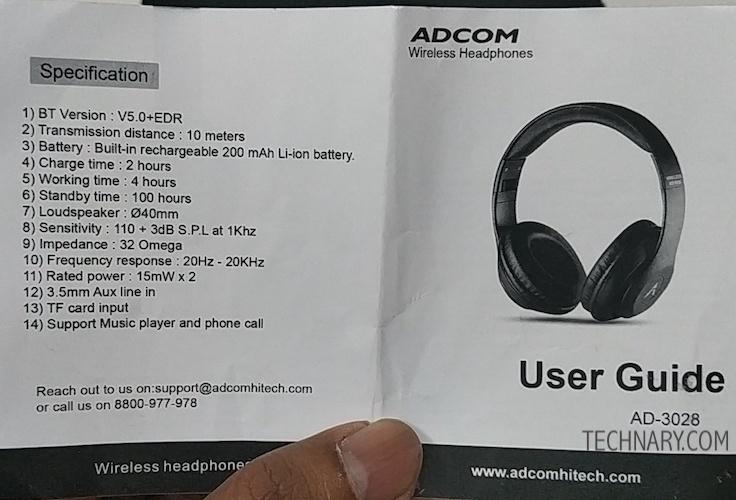 Adcom Shuffle Review - Over Ear Wireless Headphones
